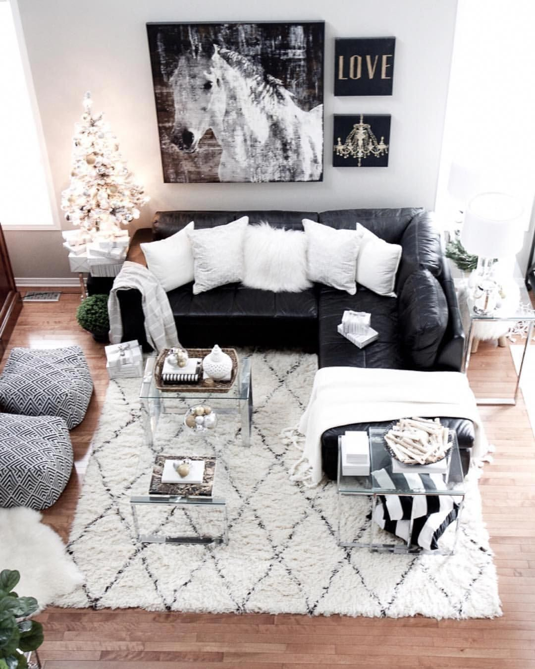 Image May Contain Living Room Table And Indoor Leather Couches Living Room Black Leather Couch Living Room Black Sectional Living Room