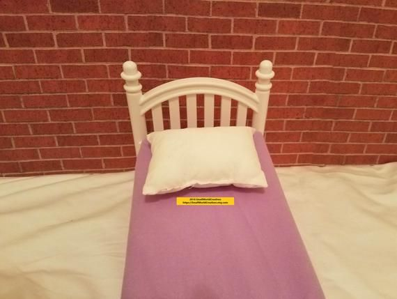 Plain Bed Pillow for American Girl/Wellie Wisher/Bitty Baby /18 inch/36 cm/Boy Doll #bearbedpillowdolls