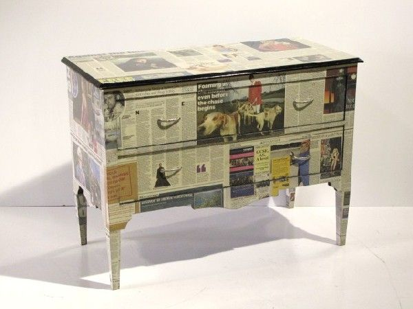 Decoupage Mobili ~ Vistula design diy newspaper decoupage for the home