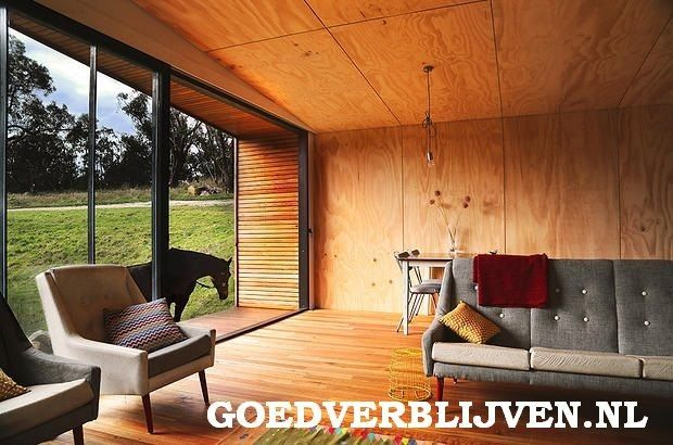 Houten mantelzorgwoning Brielle Plywood, Tiny houses and Interiors - holzverkleidung innen modern