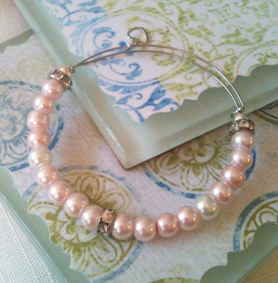Alex and ani Inspired Pink Pearl and by GrecoGirlJewelry on Etsy, $15.00