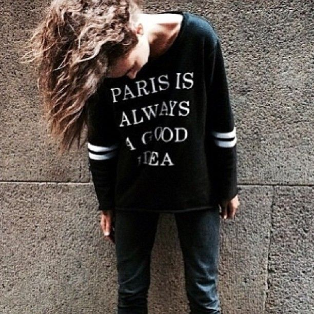 Oui oui! pic via @bythewayside in our Paris sweater