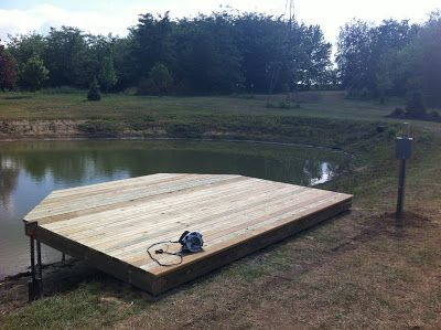 Love this dock deck home and gardening pinterest for Pond pier plans
