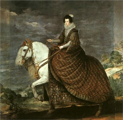 Queen Isabel of Bourbon Equestrian - Diego Velazquez,oil on canvas,1635, the most famous spanish painter of 17th century.