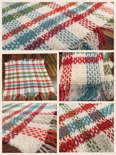Contemporary Plaid Crochet Afghan Pattern | Plaid crochet, Crochet ...