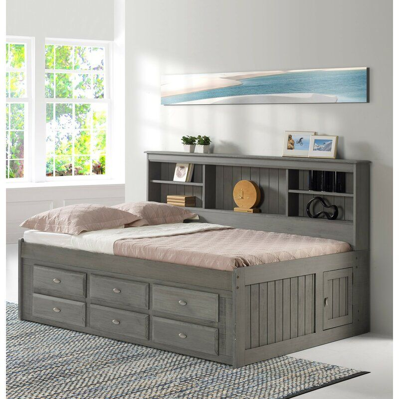 Gilbertson Bed With Bookcase And 6 Drawers In 2021 Daybed With Drawers Bed With Drawers Underneath Daybed With Storage Daybed with storage drawers underneath