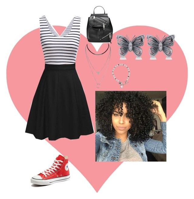 """""""Untitled #342"""" by eclecticgirl20 ❤ liked on Polyvore featuring Converse, Marc Jacobs and Allurez"""