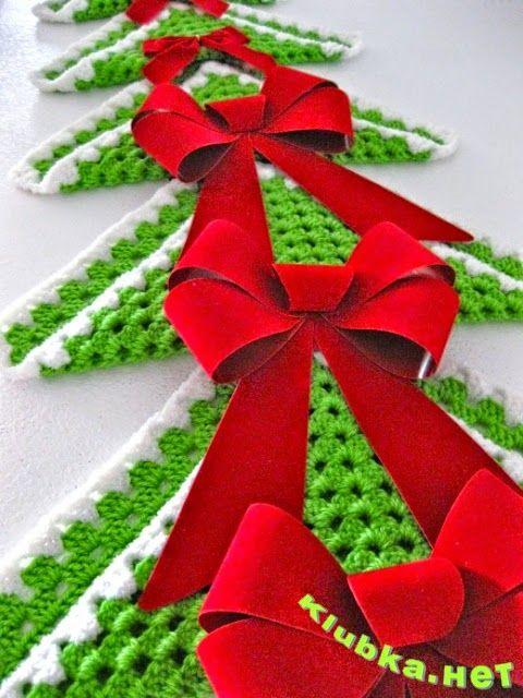 Arbol de Navidad tejido al crochet con grannys! con paso a paso ...