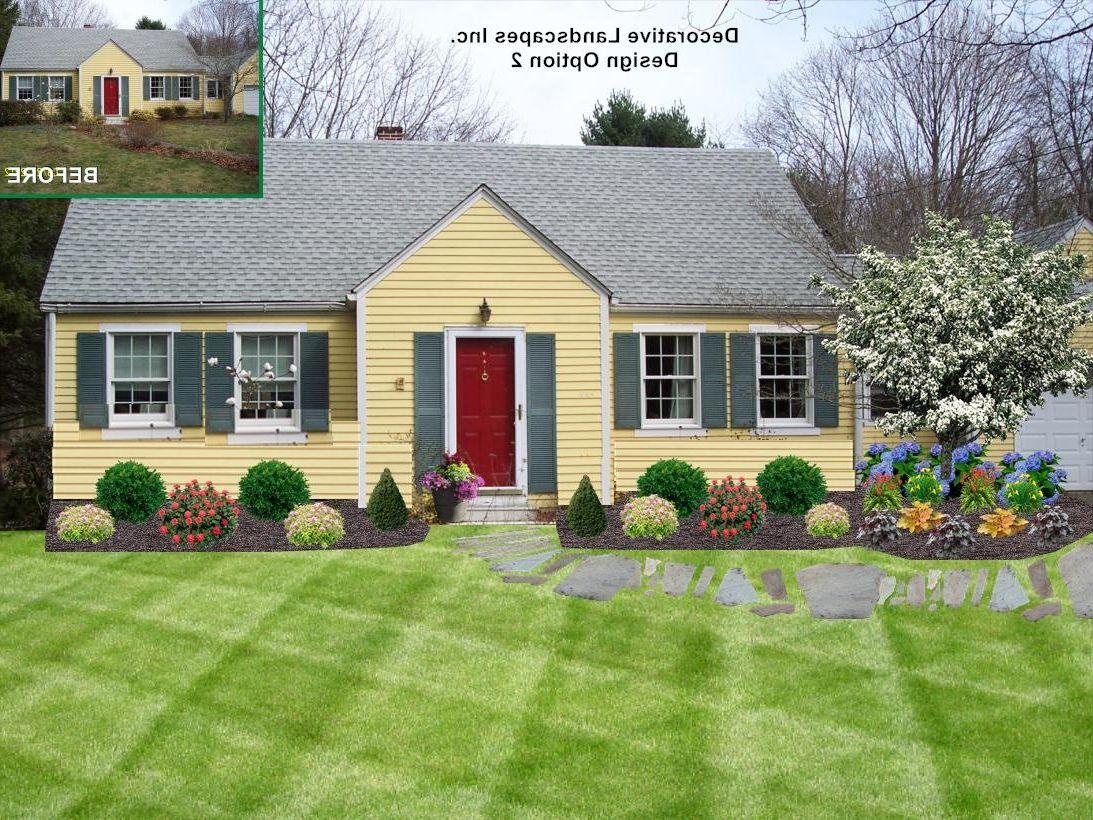 Front Yard Landscape Design Ma Ranch House Landscaping Home Landscaping Front Yard Landscaping Design