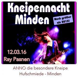 Kneipennacht Minden 2016 – 12.03.16 bei ANNO! | Ray Pasnen