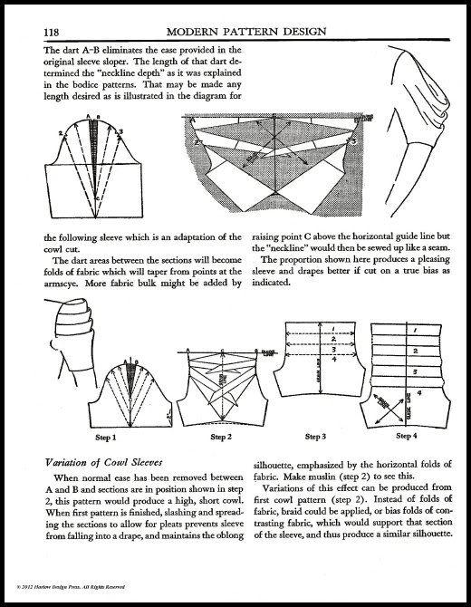 1942~modern pattern design~harriet pepin~pattern drafting~stunning ...