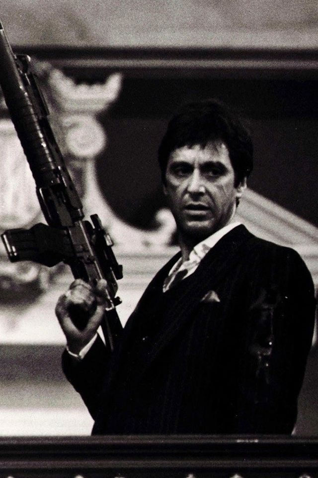 Scarface Tony Montana Tony Montana Wallpaper For Iphone Hd Background 640x960 Scarface Movie Gangster Movies Al Pacino