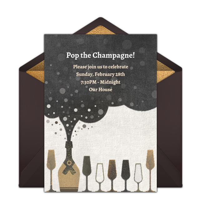 Free Champagne Bubble Invitations – Punchbowl Birthday Invitations