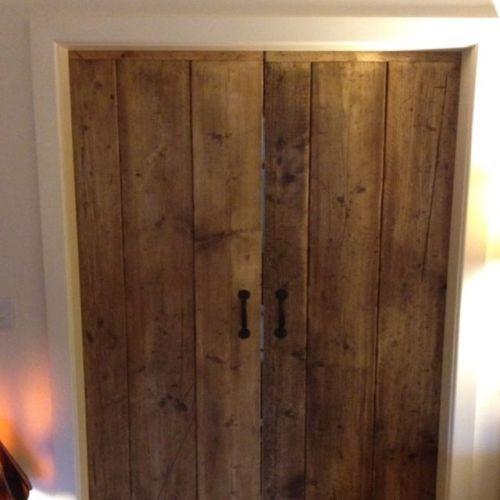 Beautiful Rustic Old World Reclaimed Timber Ledge And Braced Doors Reclaimed Doors Wooden Cupboard Wooden Doors