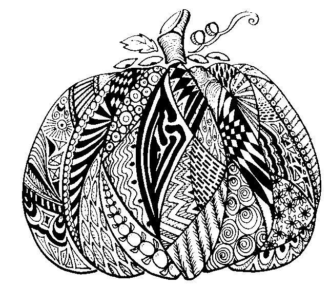 Ausmalbilder Herbst Kürbis: COLOURING PAGES/AUSMALBILDER