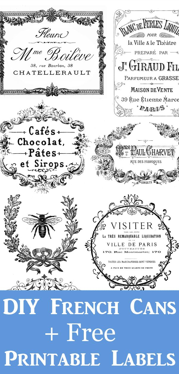 Free French Printable Labels + Project!