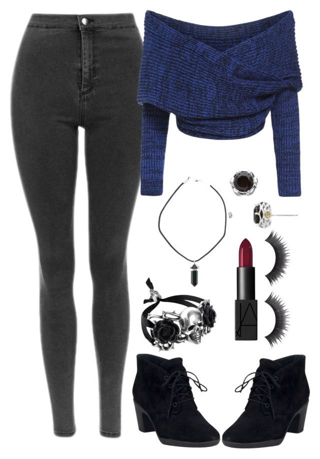 """""""Untitled #328"""" by crimsonfuckr ❤ liked on Polyvore featuring Clarks, Tacori and NARS Cosmetics"""