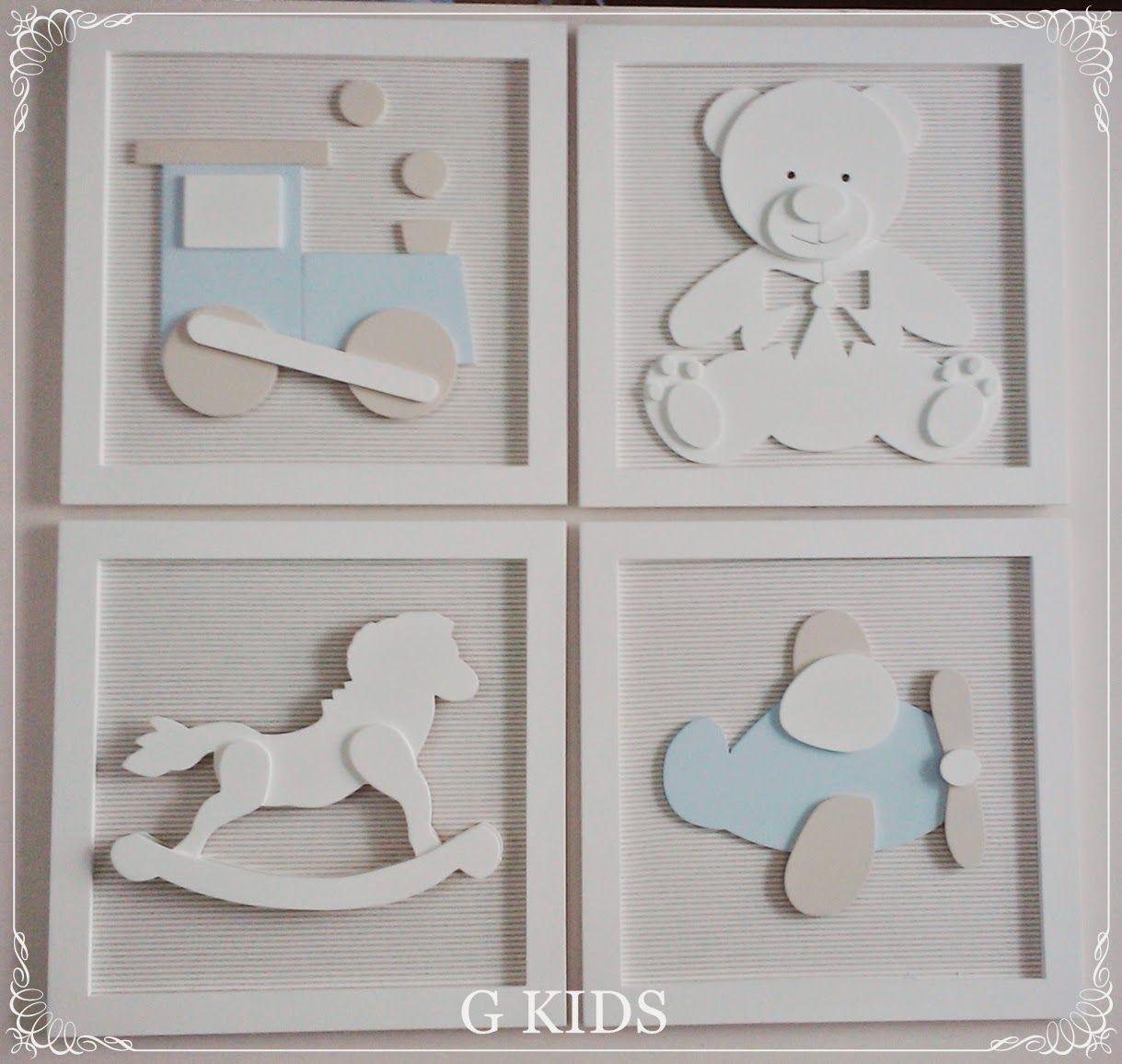 G Kids Quadros Beb Brinquedos Kit 4 Quadros Decora O Baby