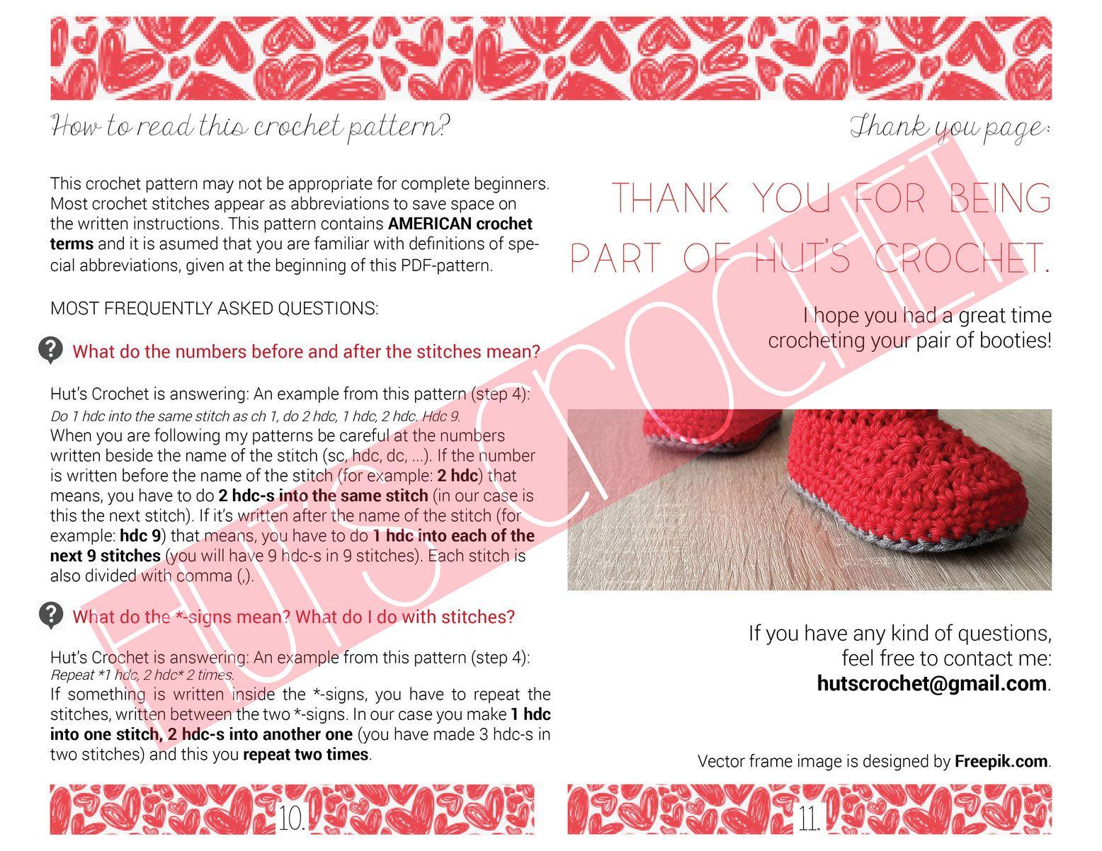 Hut\'s Amore - Crochet baby booties pattern by Hut\'s Crochet ...
