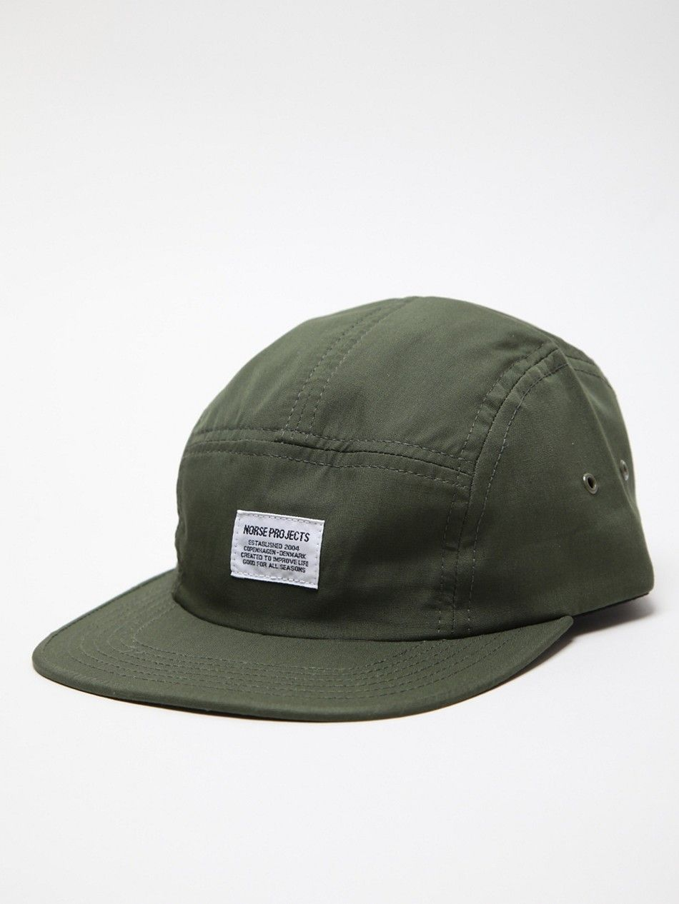 Norse Projects Men S Solid 5 Panel Hat In Green At Oki Ni