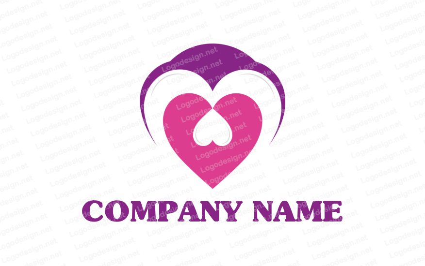 Heart inside with another heart (With images) Logo design