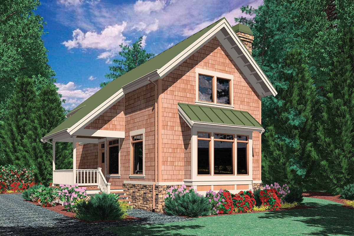 House Plan 2559 00224 Vacation Plan 981 Square Feet 1 Bedroom 1 Bathroom Small Cottage House Plans Small Cottage Homes Vacation House Plans