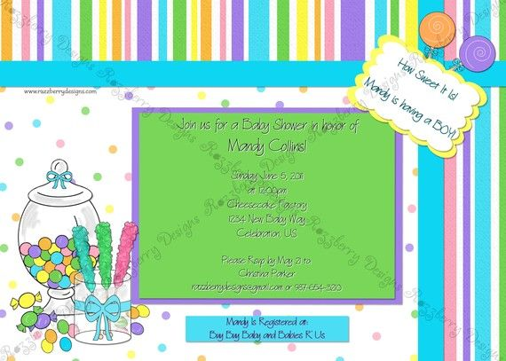 Candy baby shower invitation candy invitation sweet theme baby sweet treat candy themed baby shower invitation by razzberrymomma 1500 filmwisefo