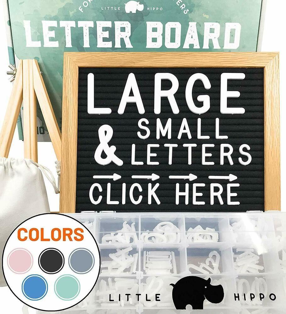 Felt Letter Board 10x10   690 PRE-Cut Letters Stand Sorting Tray   (Black) Le #fashion #home #garden #homedcor #messageboardsholders (ebay link)