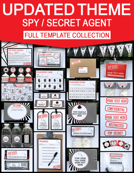Spy Party Games 8 Printable Secret Codes Ciphers red Spy