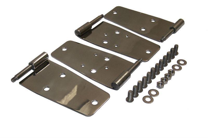 Crown Automotive Rt34008 Full Door Hinge Set In Stainless Steel For 76 93 Jeep Cj7 Wrangler Yj Door Hinges Stainless Steel Hinges Jeep Cj7