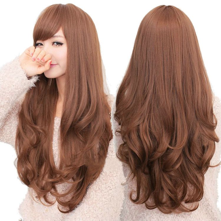 Hairstyles For Long Asian Hair : Light brown hair korean google search hairstyles pinterest