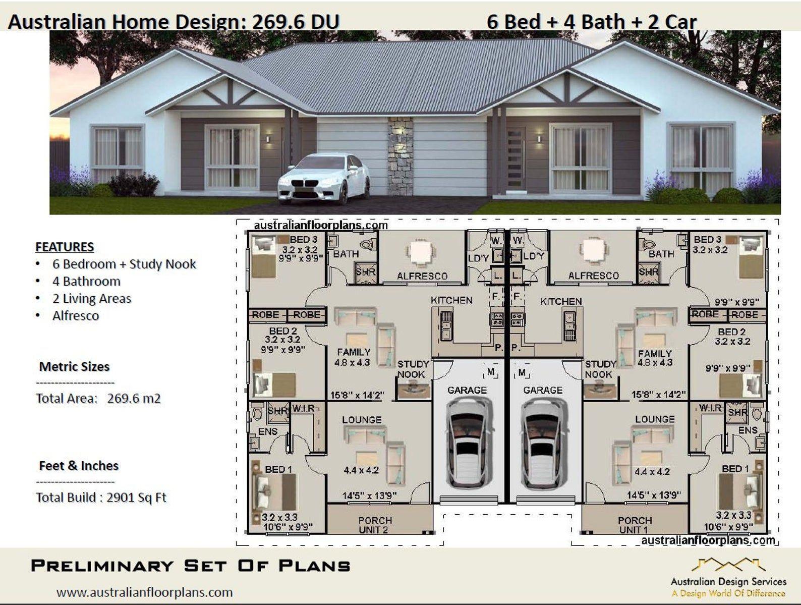 3222 Sq Feet 299 30 M2 Duplex House Plans 6 Bedrooms Etsy Duplex Design Duplex Floor Plans Duplex Plans
