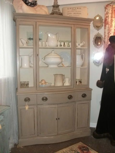 China cabinet in Coco by Annie Sloan chalk paint | Painted furniture ...