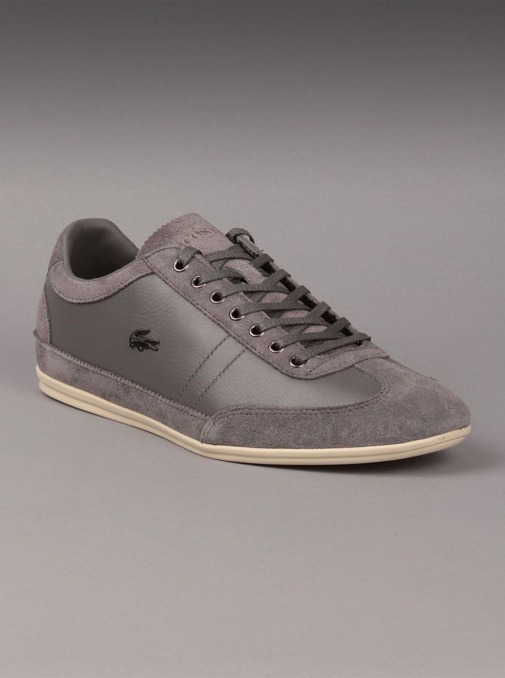 1cd8ee026399cd Lacoste® Mens Misano 11 Sneaker in Dark Grey. The Lacoste mens Misano 11  suede