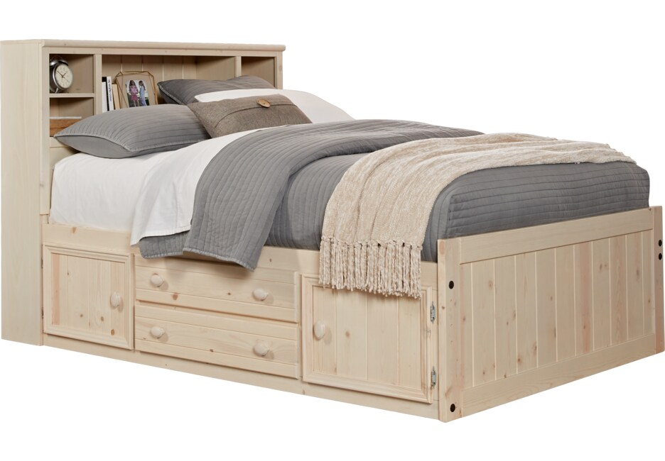 Creekside Stone Wash 5 Pc Full Bookcase Captain S Bed Bookcase Bed Rooms To Go Furniture Bedroom Furniture Stores