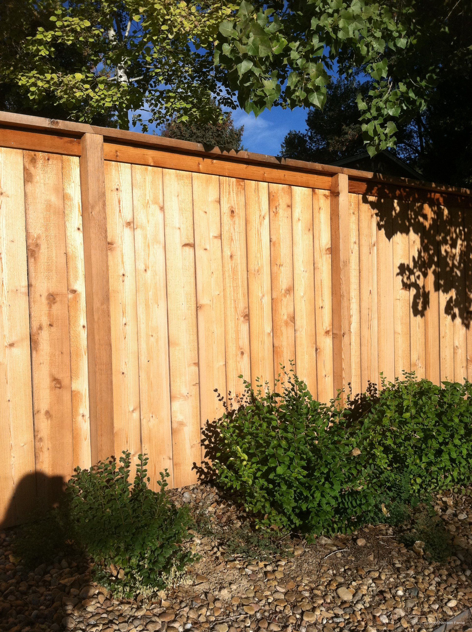 One Sided Fence With A Cap Making It A Wee Bit More Expensive Than The Quote We Gave For A One Sided We Would Add Wood Privacy Fence Fence Design