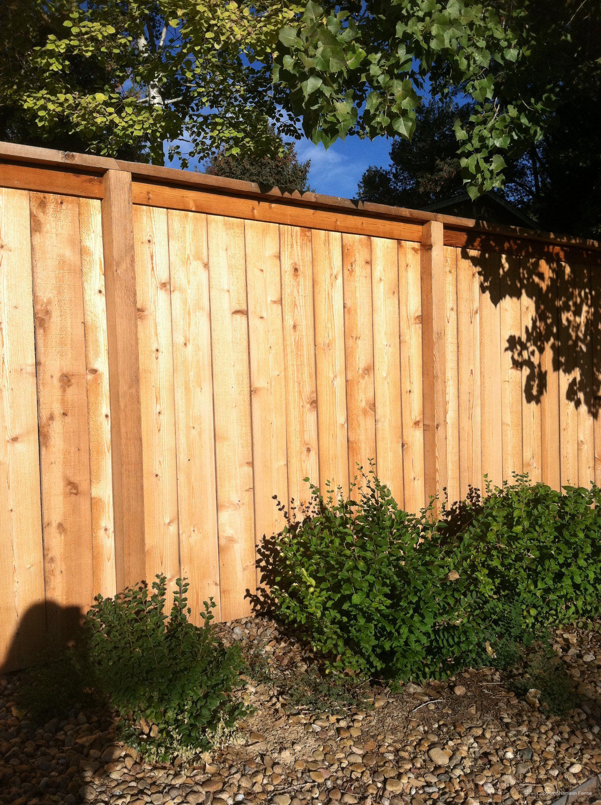 top cap fence flush top fences and decks wood. Black Bedroom Furniture Sets. Home Design Ideas