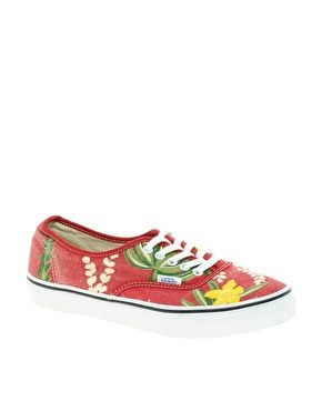 a25f89f59e Enlarge Vans Authentic Slim Hawaiian Print Lace Up Sneakers