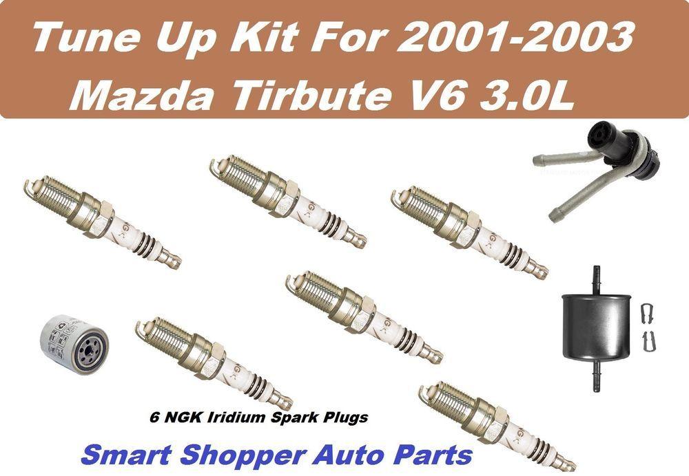 Tune Up Kit For Mazda Tribute V6 Sperntine Belts, Oil Fuel Filter