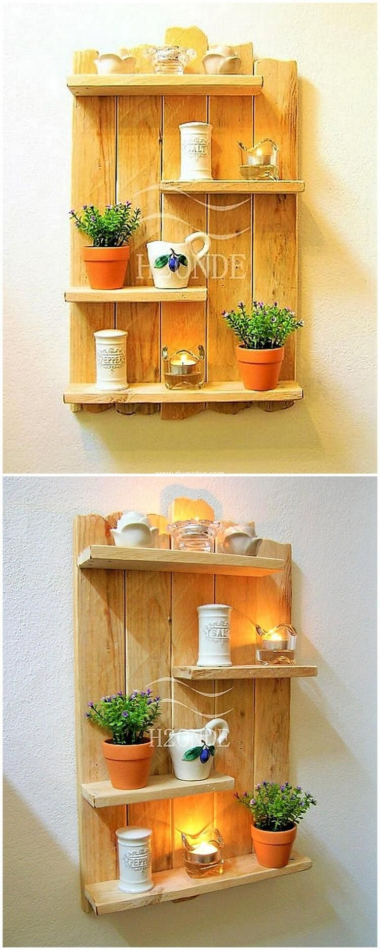 Creative Shelving Ideas With Reclaimed Wooden Pallets   Wood shelf ...
