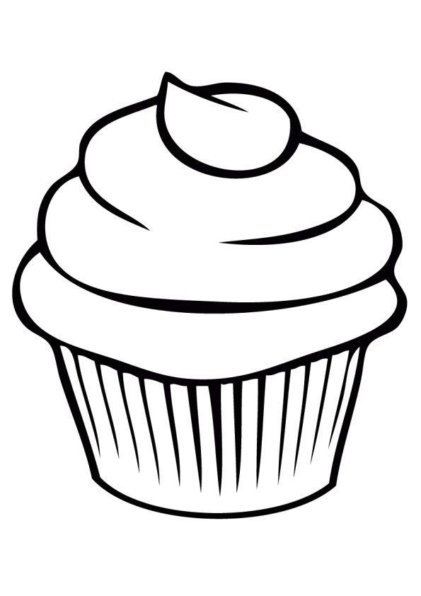 Print Coloring Image Momjunction Cupcake Coloring Pages Cupcake Drawing Coloring Pages