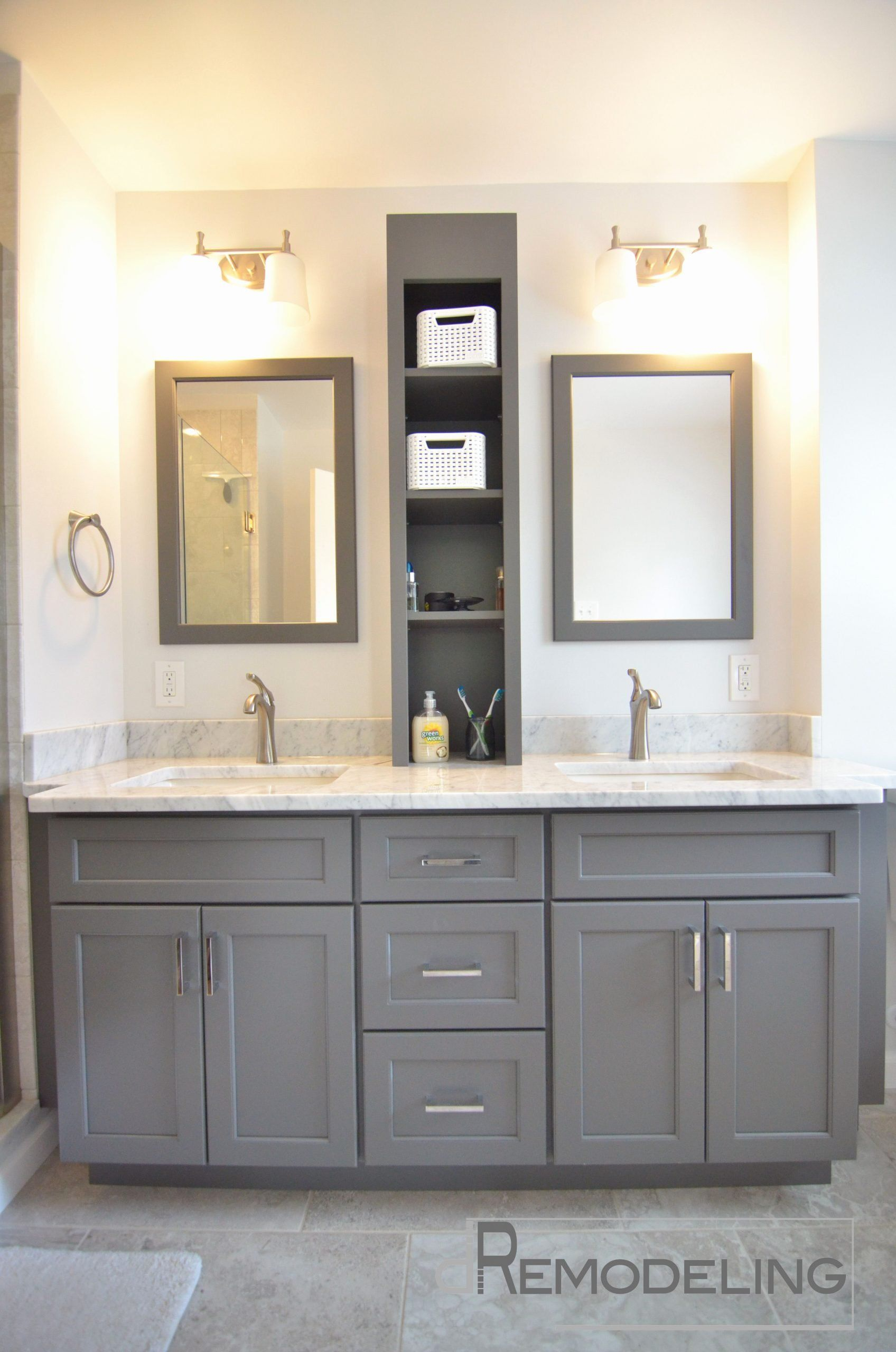 Double Vanity Bathroom Ideas Beautiful Palatial Double Wall Mounted Rectangle Mi Bath In 2020 Small Bathroom Vanities Double Sink Bathroom Bathroom Cabinet Makeover