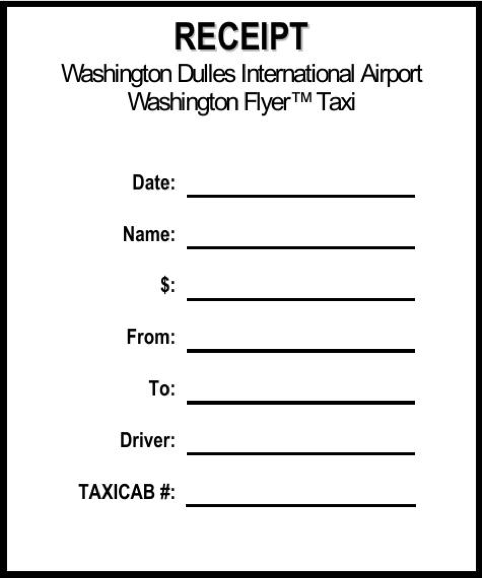 Taxi Receipt Template Receipt Template Taxi Cab Templates
