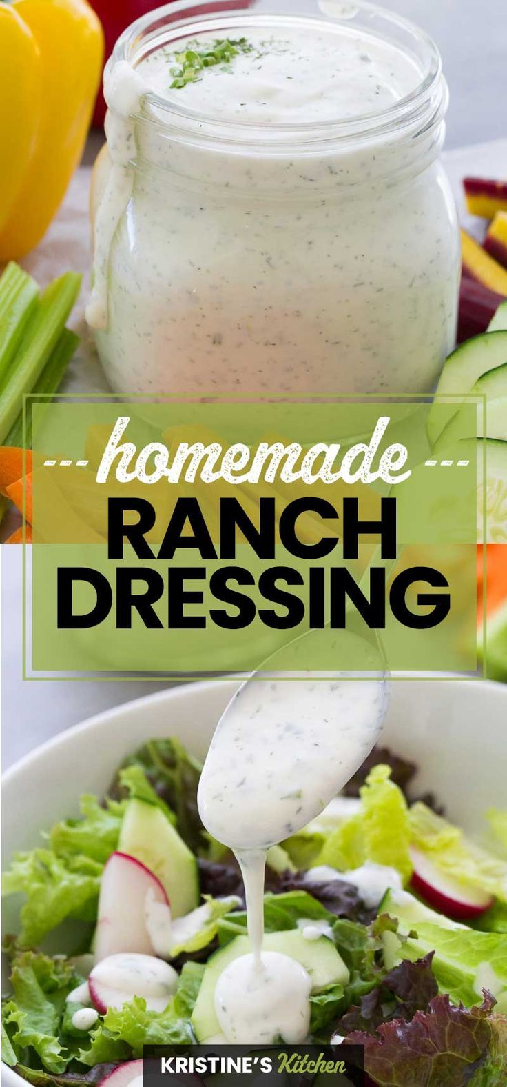Homemade Ranch Dressing In 2020 Homemade Ranch Dressing Homemade Ranch Ranch Dressing