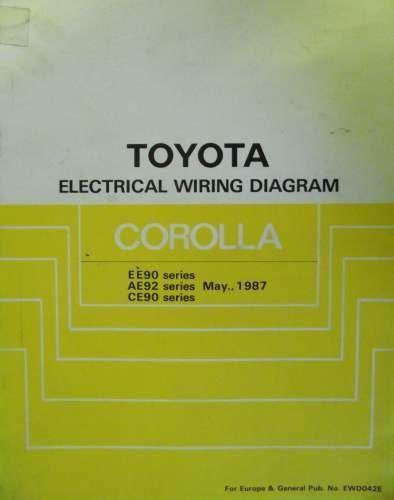 1987 Toyota Corolla Wiring Diagram Detailed Diagrams. Toyota Corolla Wiring Diagram Manual 1987 Ewd042e Jacks Workshop. Toyota. 87 Toyota Mr2 Window Wiring Diagram At Scoala.co