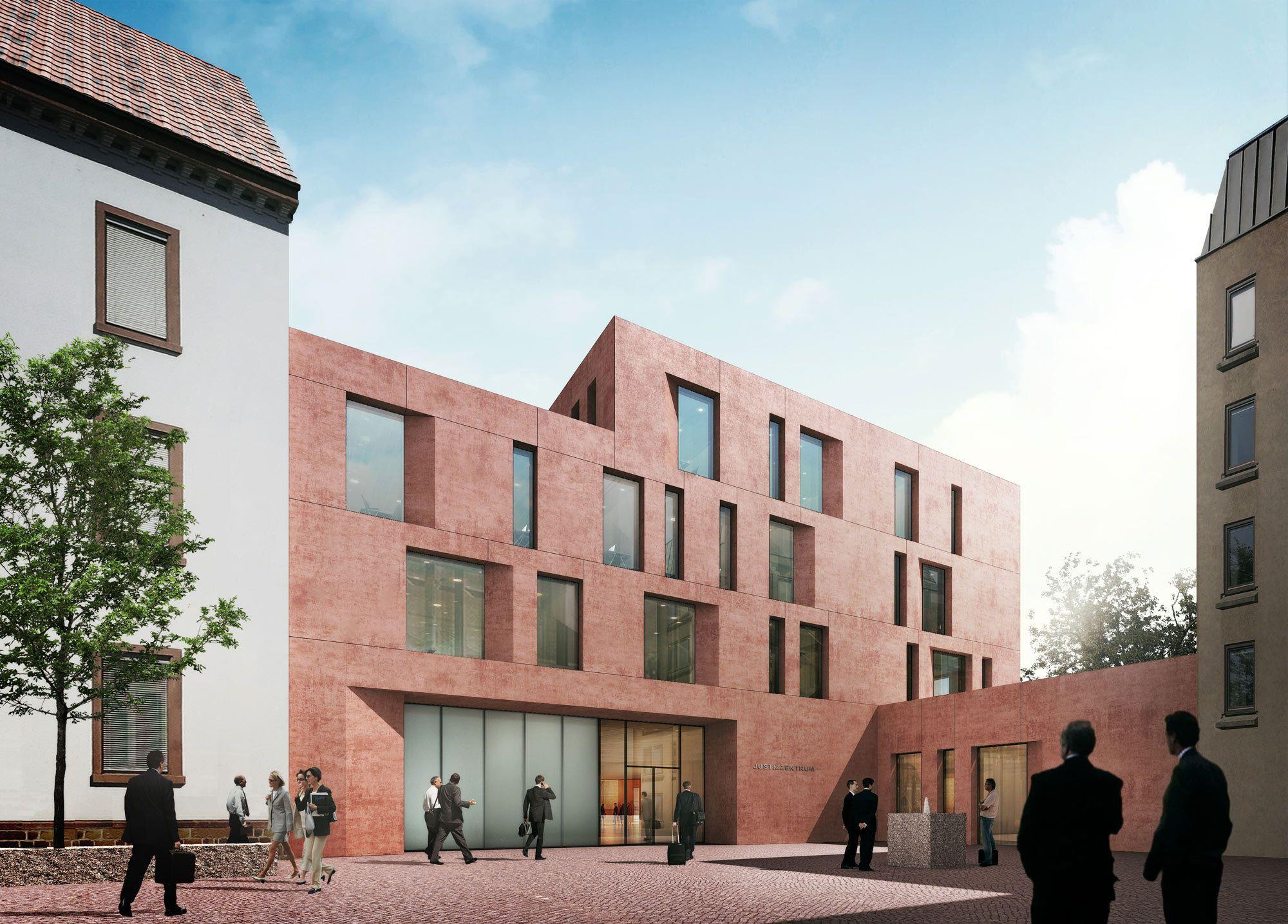 Architektur Freiburg justizzentrum freiburg auer weber gewinnen wettbewerb fassaden