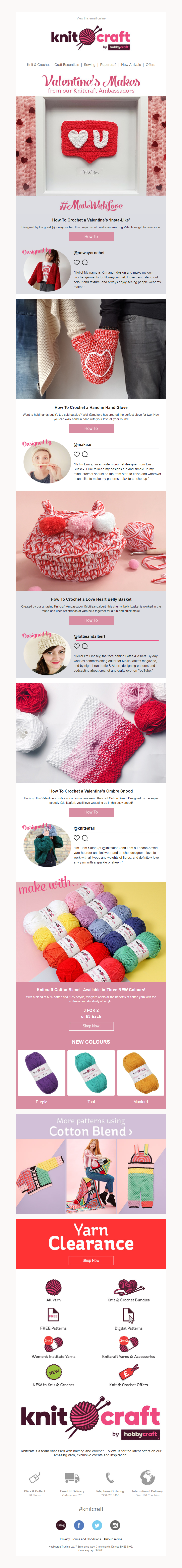 Valentine S Day Email From Hobbycraft With How To Make Gift Guides And Social Media Emailmarketing Email Marketi Craft Supplies Online Crafts Craft Supplies