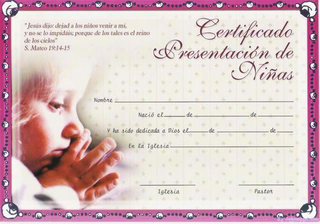 diplomas y  o certificados cristianos  resubido agosto