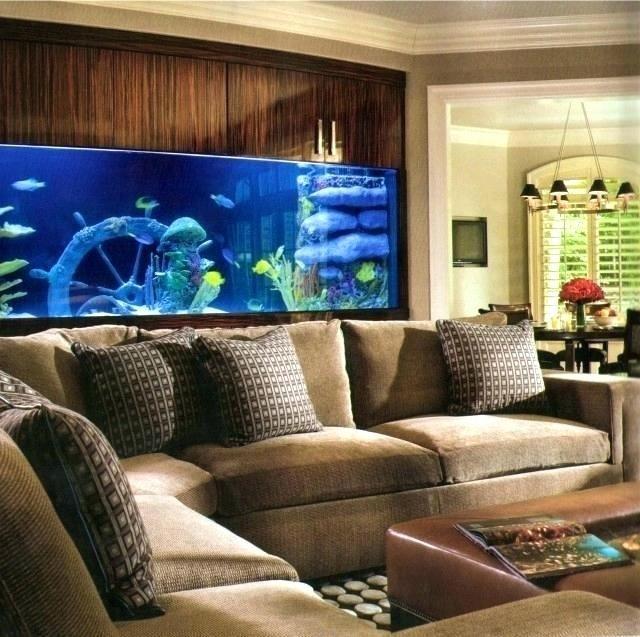 aquarium in bedroom  anapa russia october 16 2019 small
