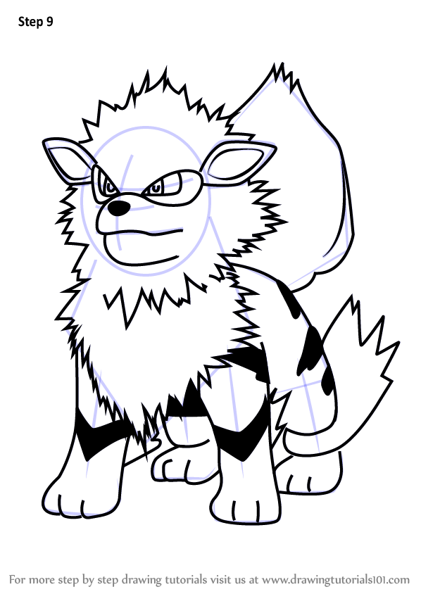 Learn How To Draw Arcanine From Pokemon Go Plants Vs Zombies Step By Step Drawing Tutorials Easy Pokemon Drawings Pokemon Pokemon Arcanine